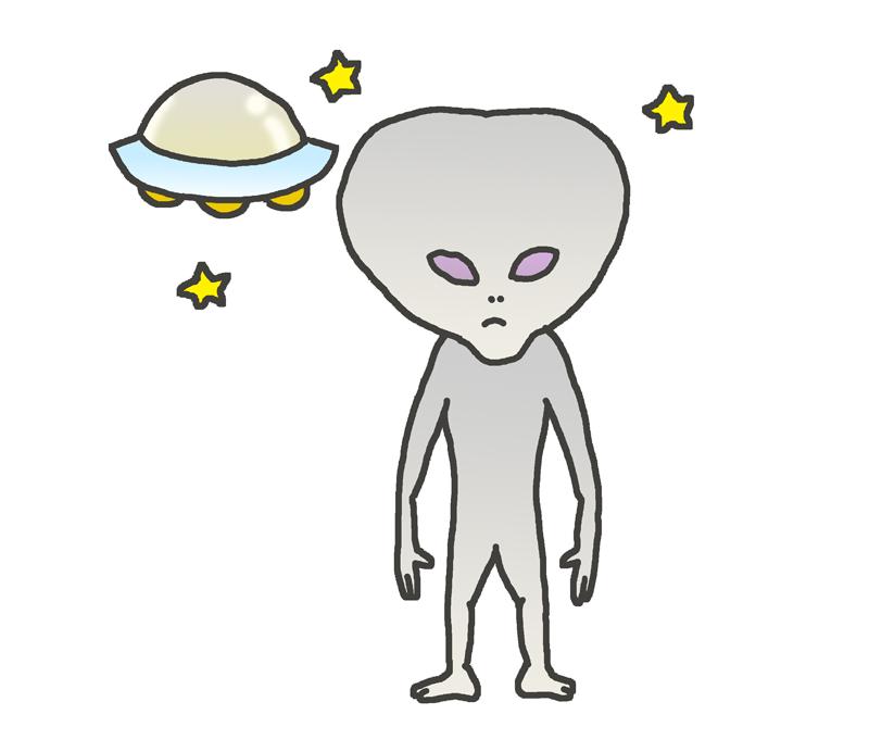 宇宙人グレイとufoのイラスト イラストの里
