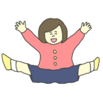 わーいと喜ぶ女の子のイラスト