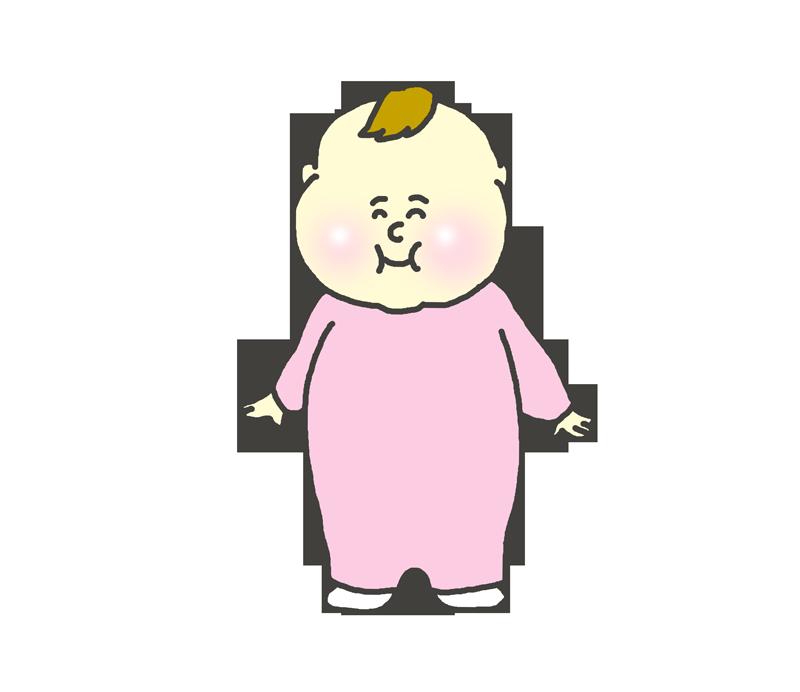 立ち上がった赤ちゃんのイラスト