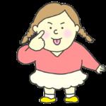 アッカンべーをする女の子のイラスト