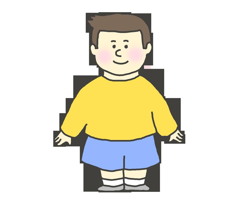 立ち姿の男の子のイラスト