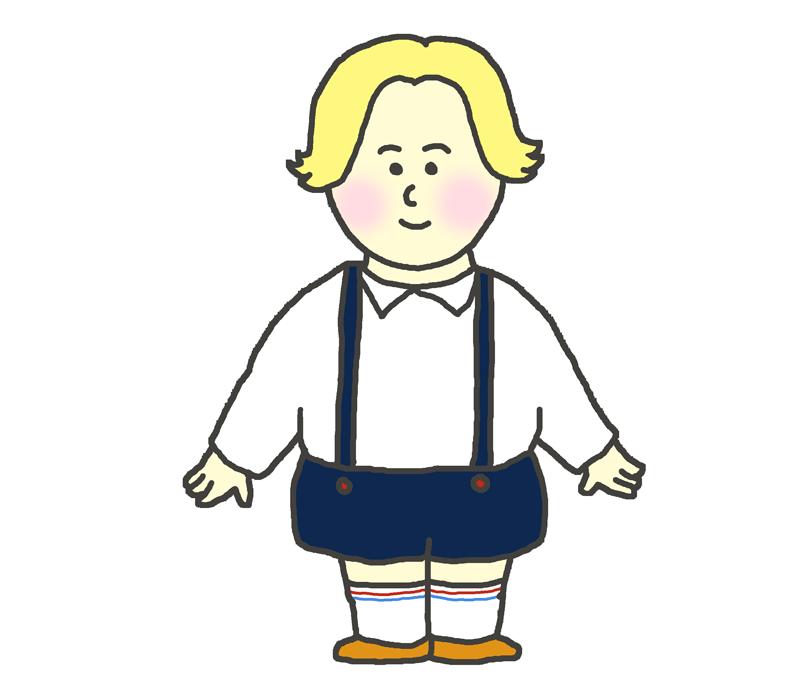 白人の子供(男の子)のイラスト