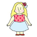 白人の女の子のイラスト