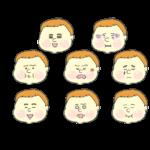 色々な表情の赤ちゃん