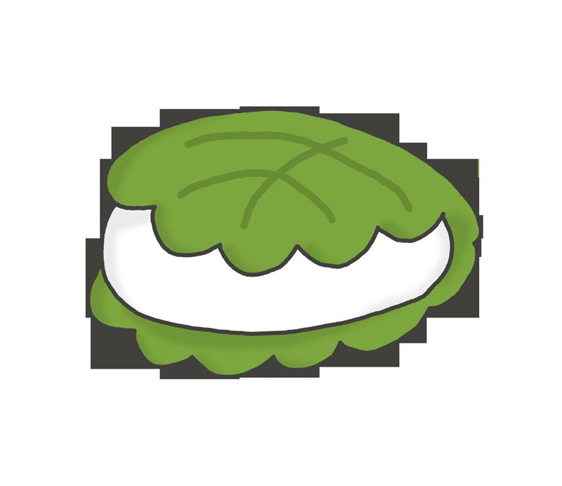 柏餅のイラスト(こどもの日)