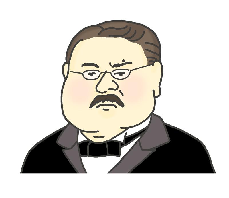 北里柴三郎の似顔絵イラスト