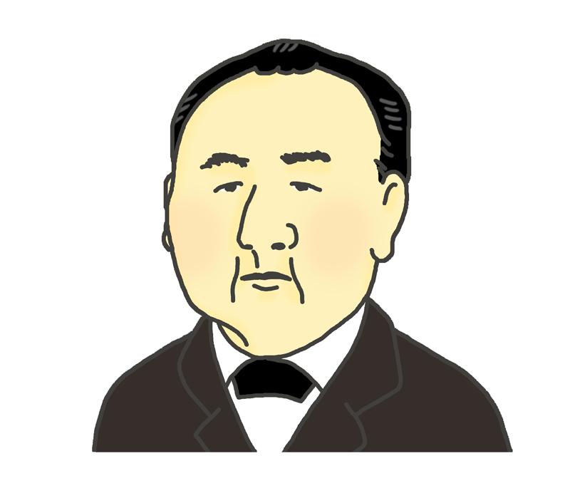 渋沢栄一の似顔絵イラスト イラストの里