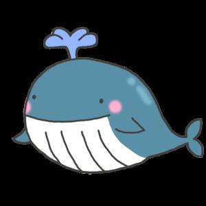 クジラのキャラクター風イラスト