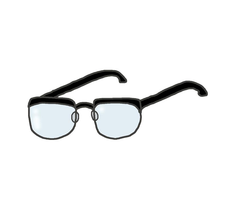 ウェリントン型メガネのイラスト イラストの里