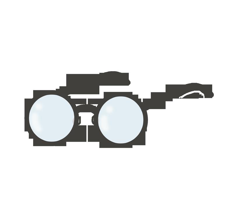 丸眼鏡のイラスト