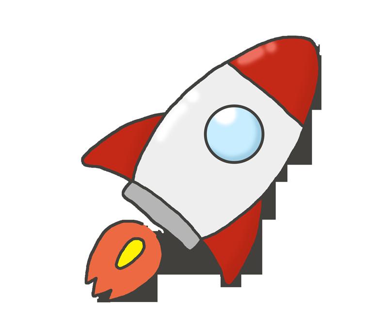 打ち上げロケットのイラスト