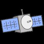 人工衛星のイラスト