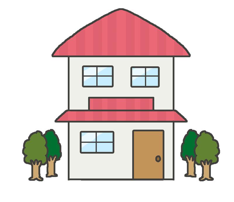 二階建ての家屋のイラスト