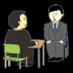 就活面接のイラスト(男性)