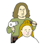 男性美容師のイラスト