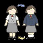 学生服の衣更えのイラスト(女子)