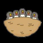 ツバメの雛のイラスト