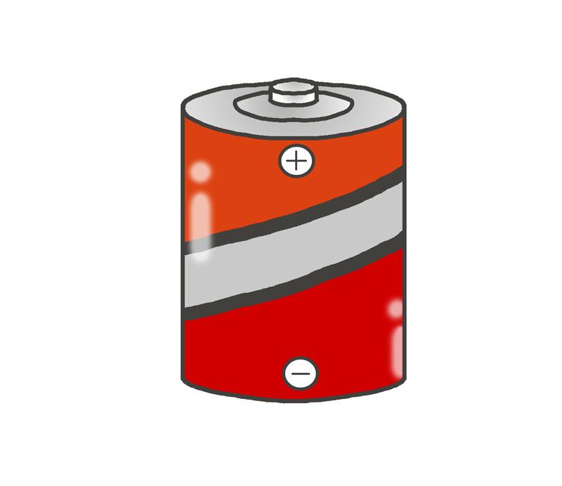大きい電池のイラスト