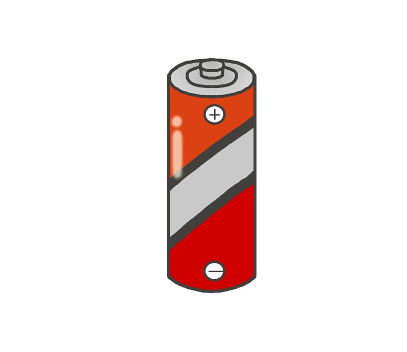 小さい電池のイラスト