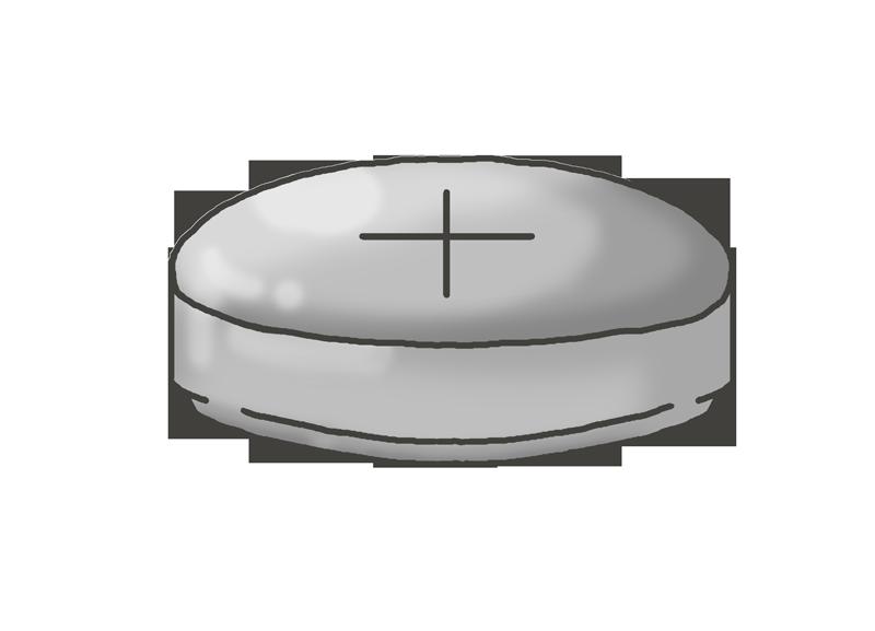 ボタン電池のイラスト