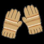 毛糸の手袋のイラスト