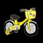 補助輪付き自転車のイラスト