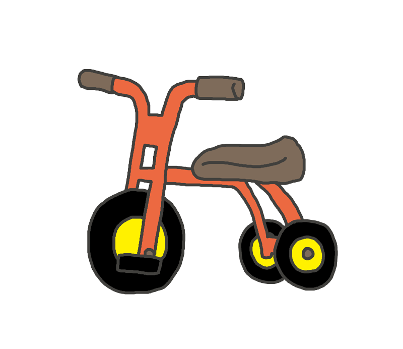 子供用三輪車のイラスト