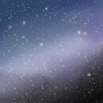 夜空と星のイラスト