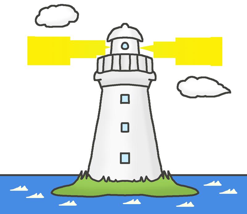 灯台のイラスト