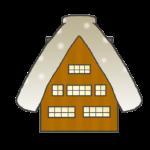 合掌造りの家のイラスト