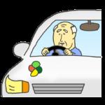 高齢者ドライバーのイラスト(男性)