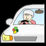 高齢者ドライバー(女性)のイラスト