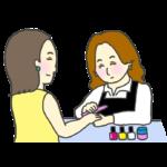 ネイリストのイラスト(女性)