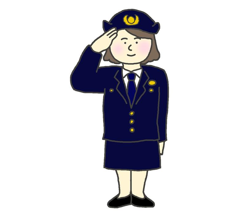 女性の警察官のイラスト