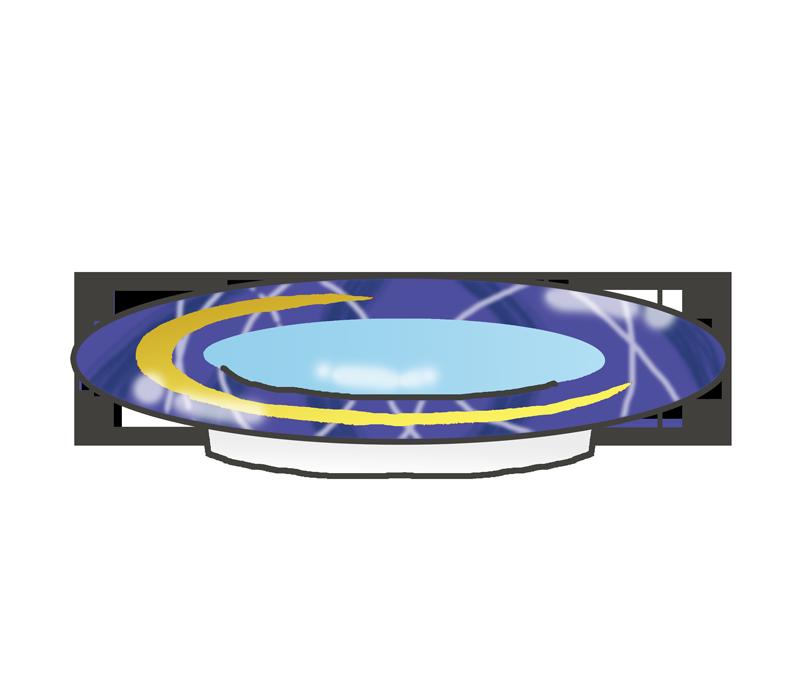 回転寿司のお皿のイラスト