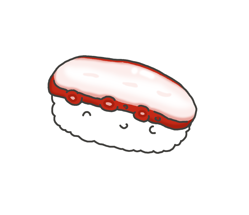 タコの寿司のイラスト