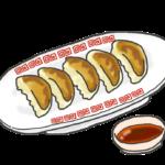 焼き餃子とたれのイラスト