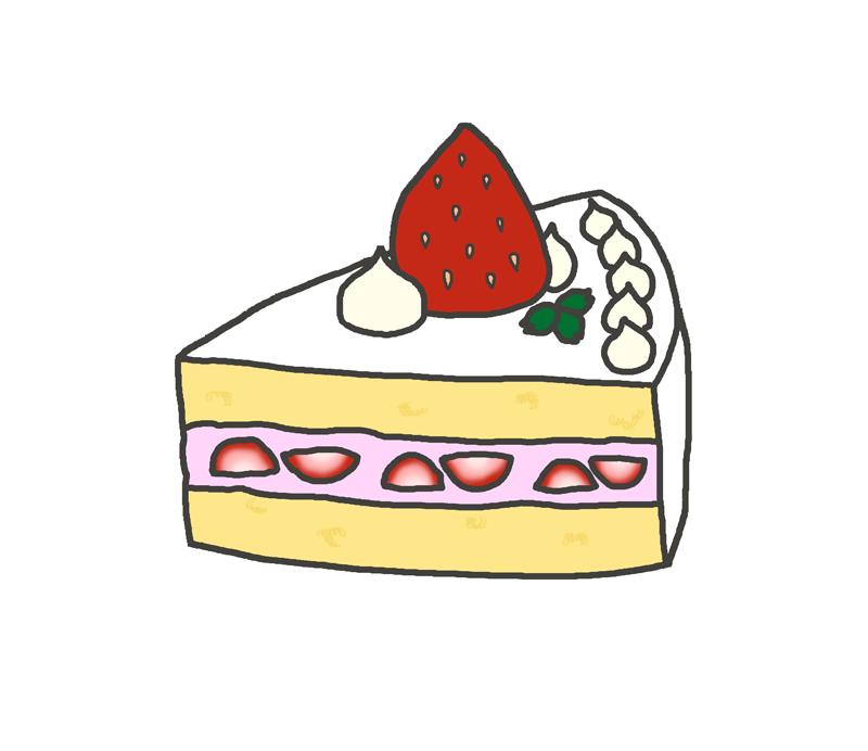 いちごのショートケーキのイラスト イラストの里