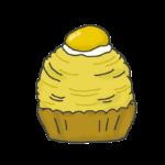 モンブランケーキのイラスト
