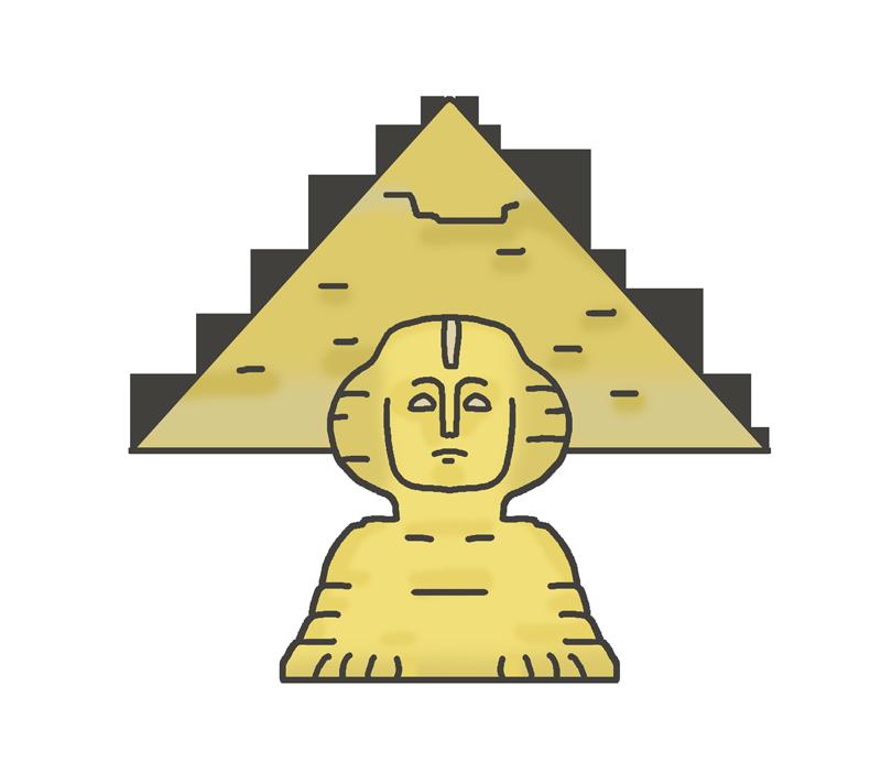 ピラミッドとスフィンクスのイラスト