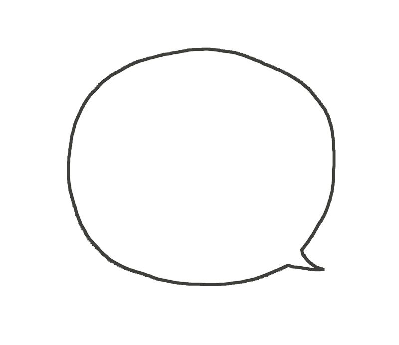 吹き出しのイラスト(シンプルな丸型)