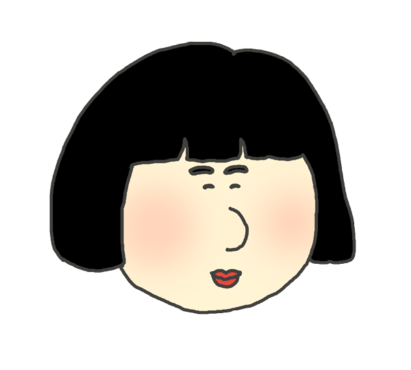 おかっぱ頭の女の子のアイコンイラスト