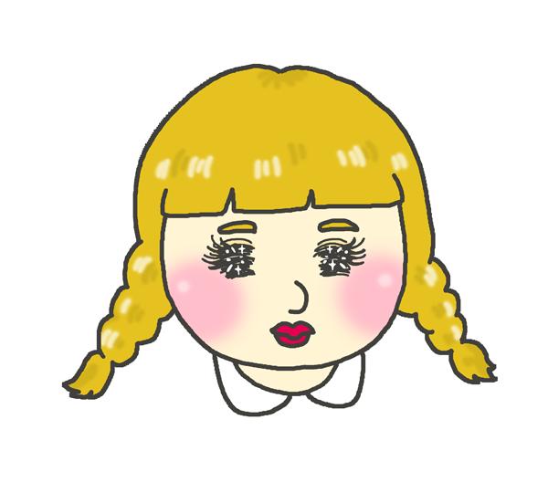 目がキラキラな女の子のアイコンイラスト