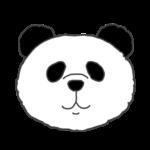 パンダのアイコンイラスト