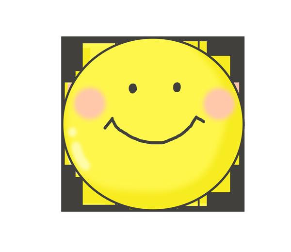 笑顔のスマイルマークのイラスト