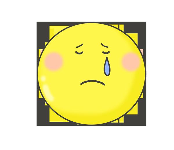 涙を流すスマイルマーク
