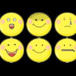 色々な表情のスマイルマークのイラスト