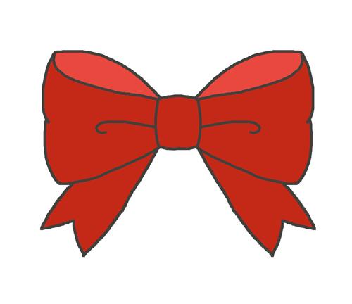 赤いリボンのイラスト