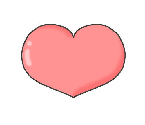 ピンク色のハートマークのイラスト