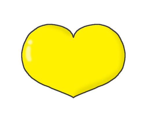 黄色のハートマークのイラスト